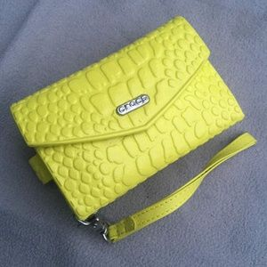 CROCS Bright Yellow Rubber Phone Case/Wallet